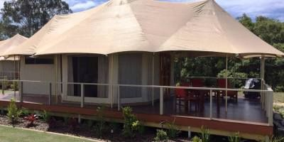 Glamping on the river in Maroochydore, Queensland