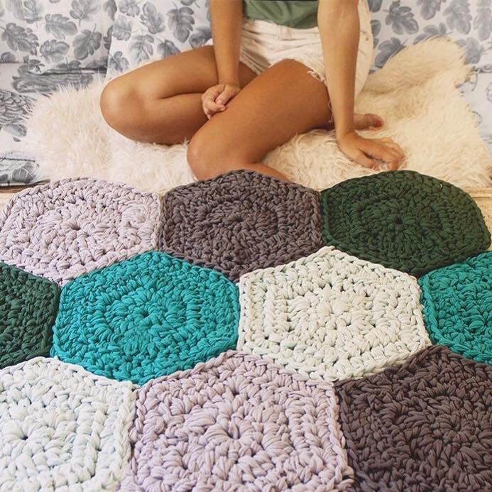 17 best ideas about alfombra de trapillo rectangular on - Como hacer trapillo ...