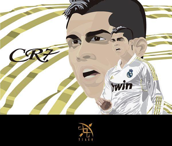Ilustración Cristiano Ronaldo on Behance