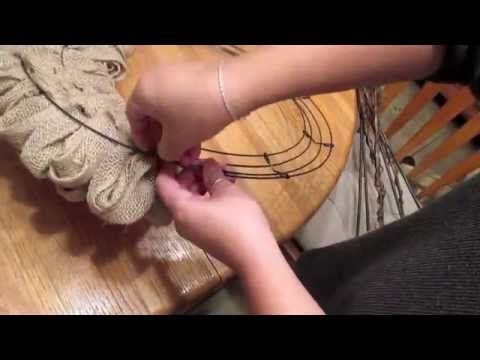 YouTube tutorial for making a burlap wreath