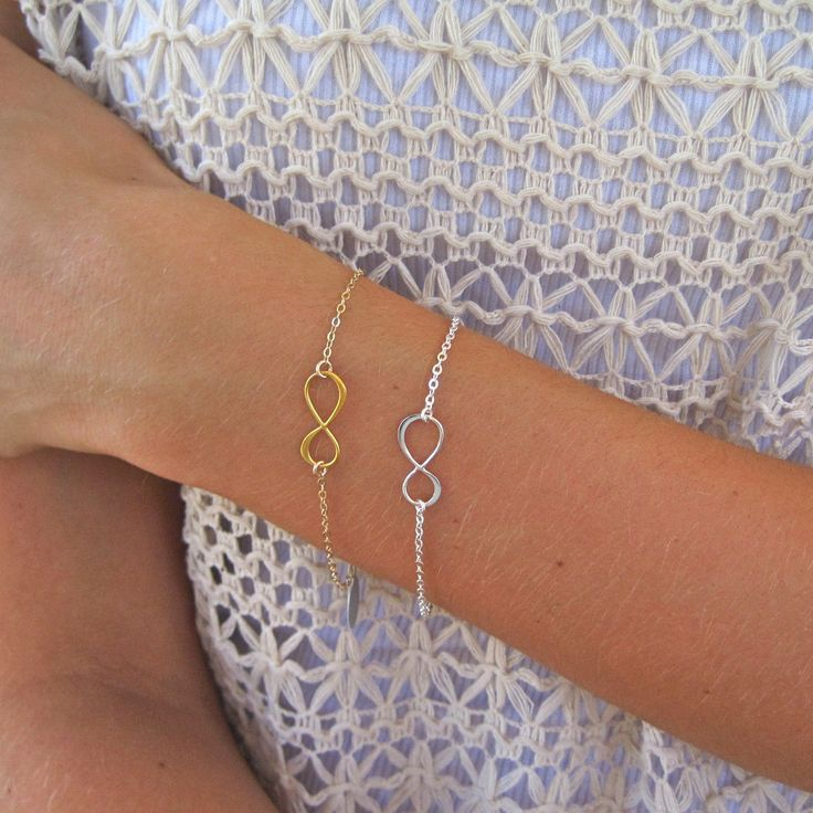 Sterling Silver and Gold Infinity Charm Bracelet by Tangerine Jewelry Shop | Tangerine Jewelry Shop