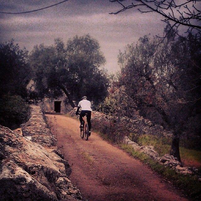 .@cenzointermite   Tratturi tracciati da pennelli che apprezzi così solo in #bicicletta  #Puglia #WeAreInPuglia.