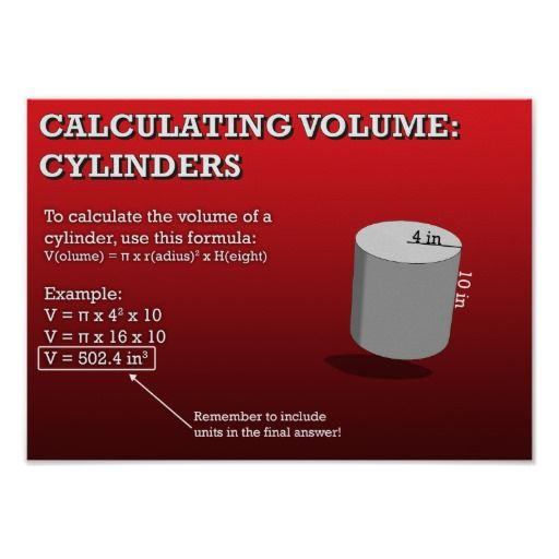 #Sold Calculating #Volume:   #Cylinders #Poster #school #education #classroom #teacher #ClassroomPosters #MathPosters #geometry