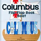Christopher Columbus Flip-Flap Book Boat - An Expository Writing Resource
