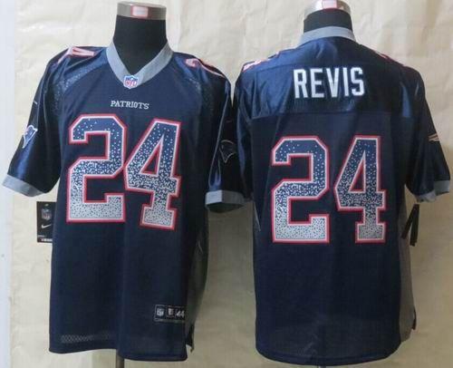 48abb835343 nike new england patriots 24 darrelle revis drift fashion blue elite jersey