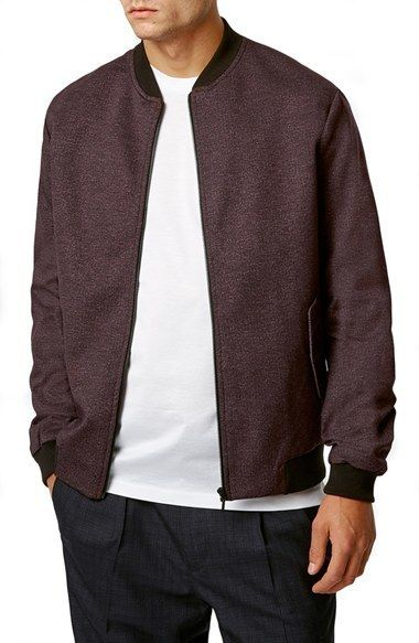 $140, Topman Coated Jersey Bomber Jacket. Sold by Nordstrom. Click for more info: https://lookastic.com/men/shop_items/431425/redirect