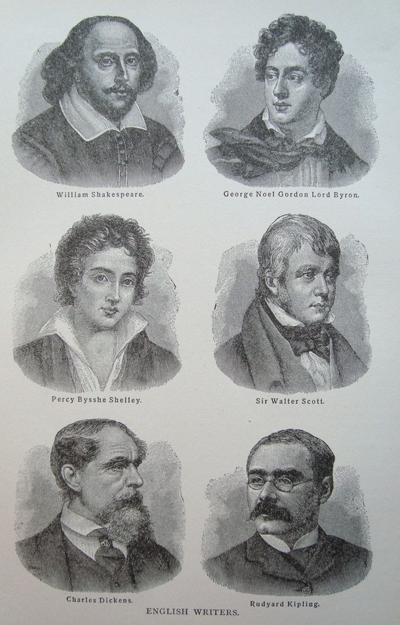 lovely English writers. English literature. Escritores de literatura inglesa. Clásicos