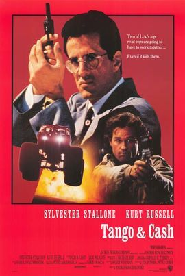 The Flop House Episode 100: Tango & Cash - After criminal mastermind Yves Perret (Jack Palance) successfully frames LAPD supercops Ray Tango (Sylvester Stallone) and Gabriel Cash (Kurt Russell) for corruption and murder, the disgraced cops must join forces in order to clear their names.