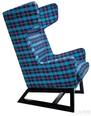 Wing Chair Checked by #KAREDesign