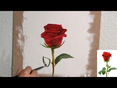 كيفية رسم الورد بالألوان الزيتية للمبتدئين Youtube Art Painting