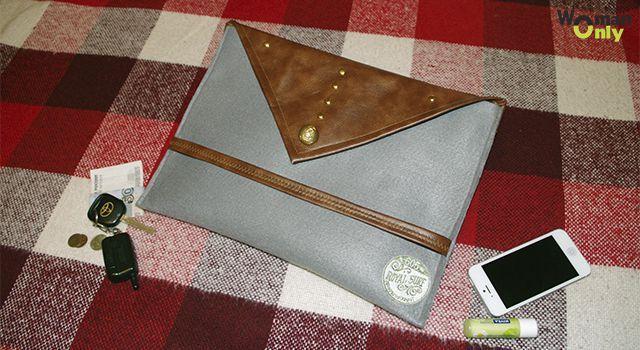 Легкий клатч-конверт из фетра