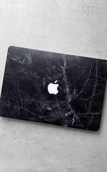 Happy Plugs Macbook Air Black Marble Laptop Skin via @bestchicfashion