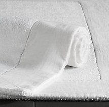 Linen-Bordered 650-Gram Turkish Bath Mat