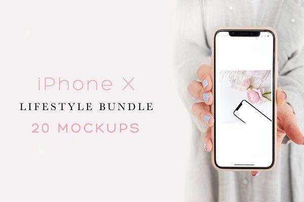 Download Iphone X Bundle 20 Mockups Psd Mockup Free Mockups Psd Stationery Mockup Iphone Beauty Business