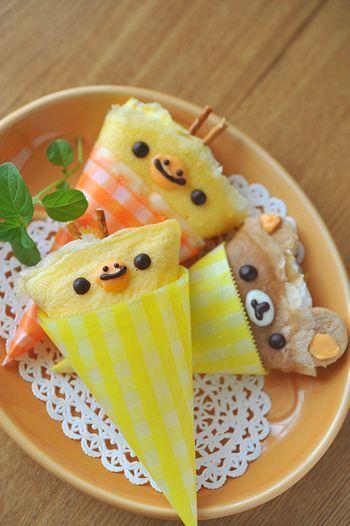 日本人のおやつ♫(^ω^) Japanese Sweets. リラックマクレープRilakkuma Crepe