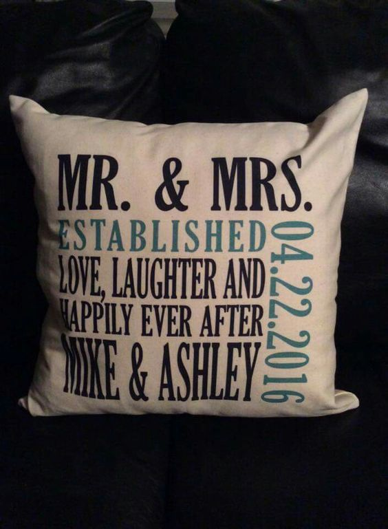 Canvas Pillow. Makes great wedding gifts!