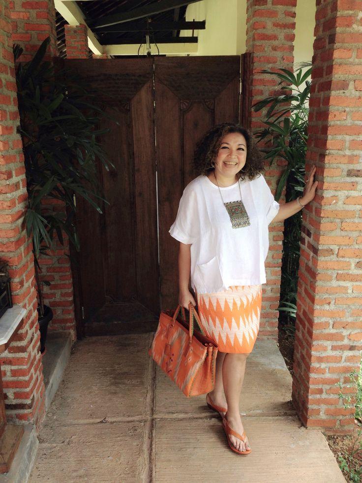 I love her style! MADURA Tote Bag & CIREBON Wedges by PRibuMI...®
