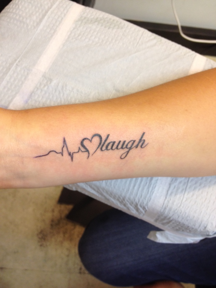 My tattoo I love it Live love laugh Tattoos