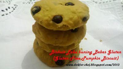 Chuz's Kitchen: Biskuit Labu Kuning Bebas Gluten (Gluten Free Pump...