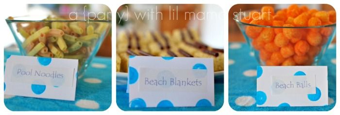 Pool Party Snack Ideas | day} with lil mama stuart: Party Ideas: Boy or Girl Pool Party