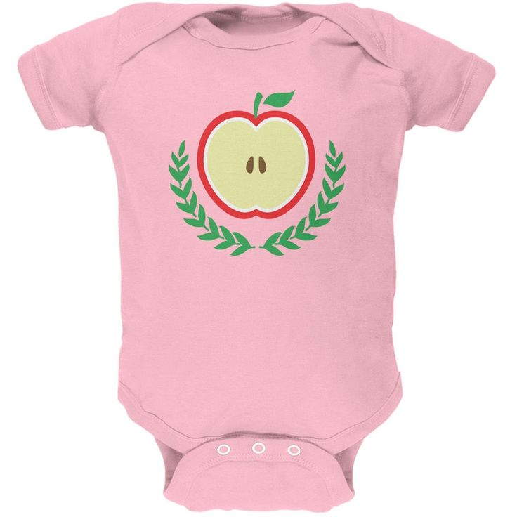 Baby Shower Theme Apple of My Eye Light Pink Soft Baby One Piece