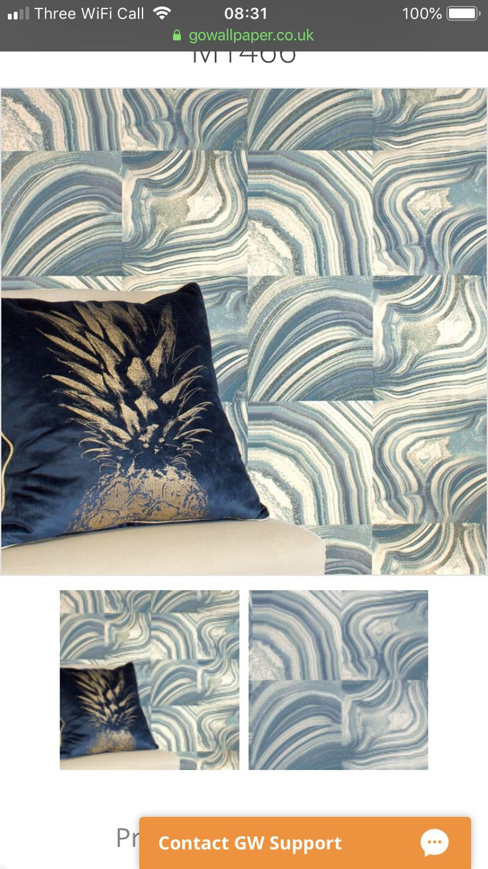 Crown Savoy Marble Geometric Teal/Gold Glitter Wallpaper
