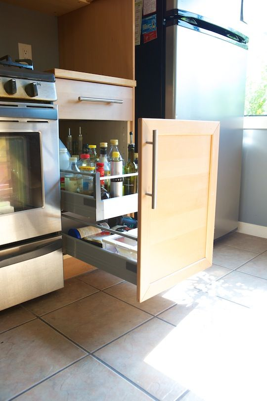 Convert kitchen cabinet doors to drawers. Genius!  2012_08_08-IKEA_Kitchen_Convert_Doors_into_Drawers_2150.jpg