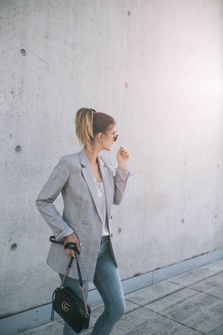 Back to University Outfit + Tipps für den perfekten Semesterstart  #ootd #fashionblog #fashion #style #streetstyle #outfit #blazer #karoblazer #check #karo #university #businesslook
