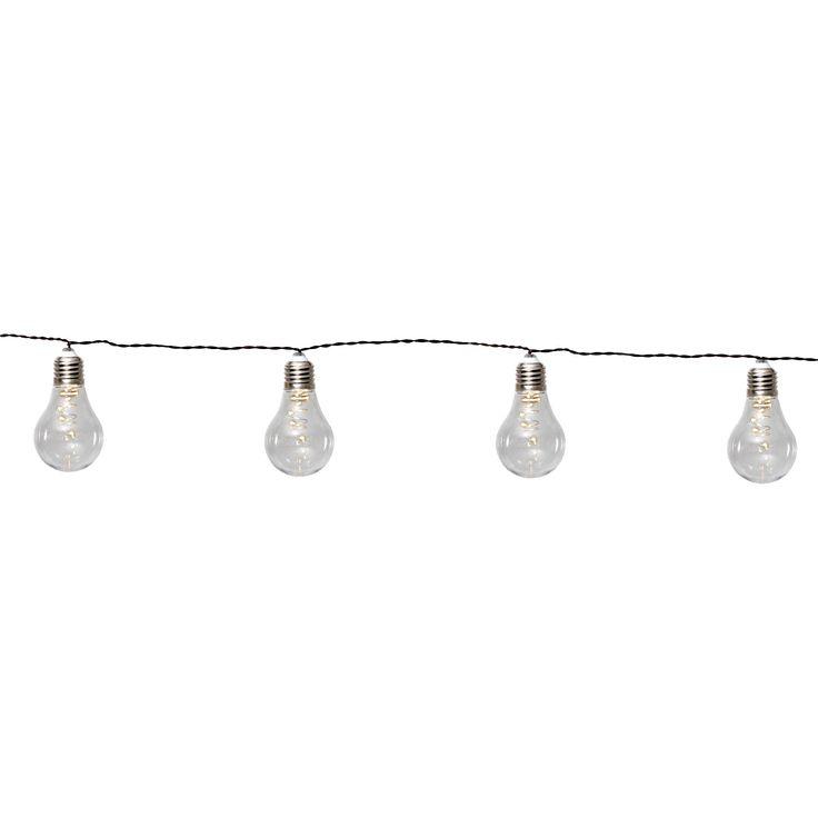 Glow lyskæde solcelle fra Star Trading. Lyskæde med flotte lamper i LED som oplades med hjælp af en ...