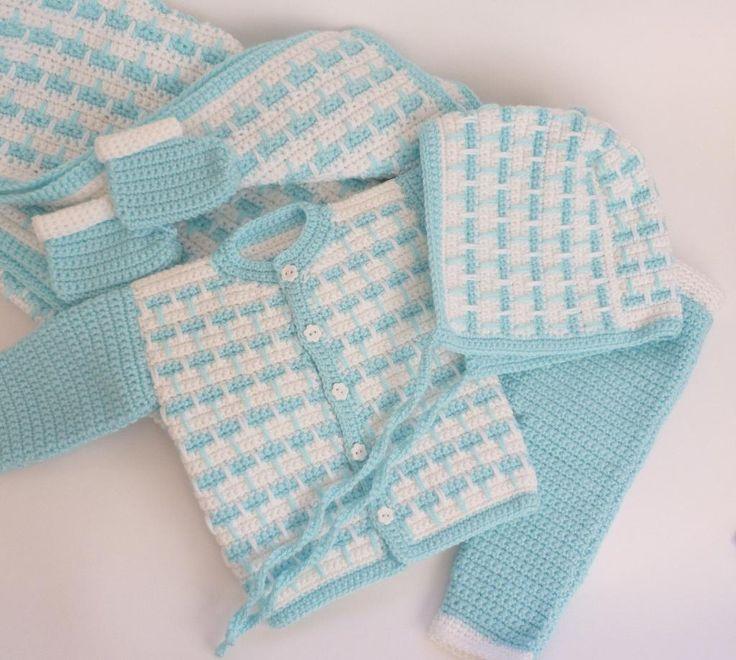 5pcs Crocheted Newborn Baby Set pattern on Craftsy.com