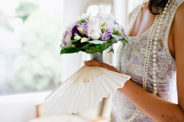 bridesmaids flowers and vintage outfit