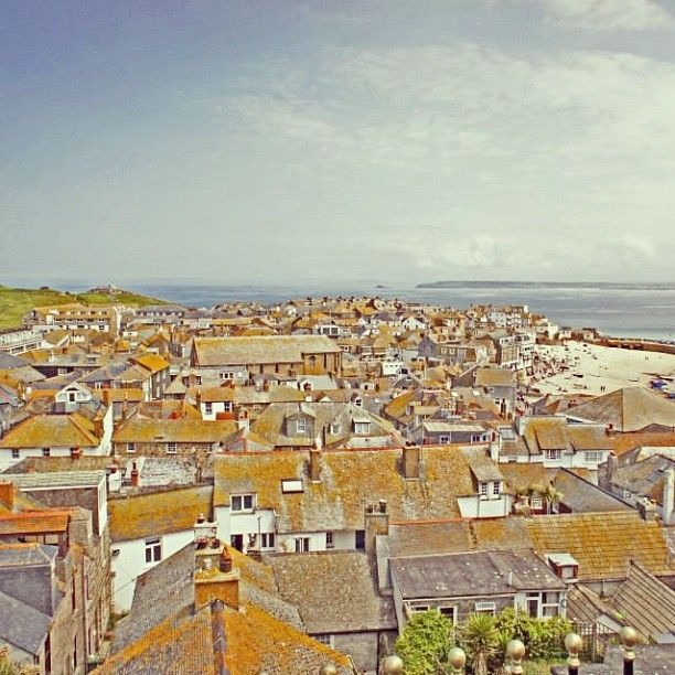 Love this shot of #StIves rooftops taken from Wallis apartment.  #Cornwall #Instagram