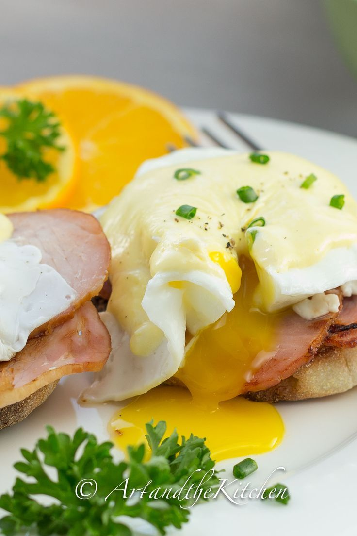 The key to great Classic Eggs Benedict is making smooth, creamy Hollandaise sauce. I found using a blender to make Hollandaise sauce was the easiest method.