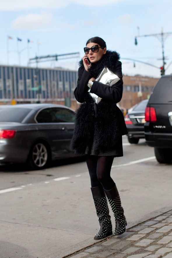 On the Street…..Studded Boots, New York