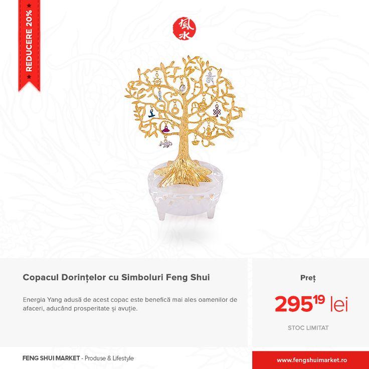 Copacul Dorințelor este o bijuterie complexă cu efecte benefice asupra tuturor. Datorită faptului că acesta conține o sumedenie de Simboluri Feng Shui, poate fi utilizat cu succes atat pentru noroc în carieră, cât și pentru prosperitate și avuție.   Comandă-l acum și beneficiază de prețul promoțional http://bit.ly/copacul-dorintelor