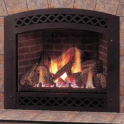 "32"" Lexington Direct Vent Fireplace with Liner, Facing and ..."