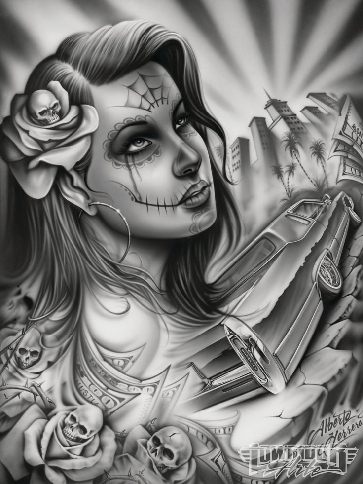 lowrider arte drawings | Lowrider Love Art Alberto herrera lowrider