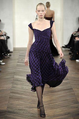 tartan dress violet