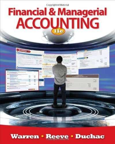 managerial accounting 11th edition solution manual