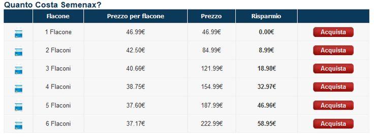 Vuoi acquistare Semenax sul sito web ufficiale italiano? consulta la tabella dei prezzi e visita il sito!