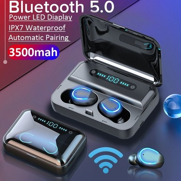 2020 Newest Mini Earbuds 8d Hifi Cvc8 0 Noise Cancelling Bluetooth 5 0 Earphones Tws Sport Waterproof Headphones Deep Bass Sound Cordless Bank Dual Headsets Wit In 2020 Waterproof Headphones Wireless Earphones Earbud Headphones