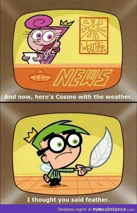 This was funny back when I was a kid!  I still love the Fairly Odd Parents!