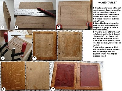 Medieval Arts & Crafts: A medieval waxed tablet -- your children or students may enjoy making their very own wax tablets.