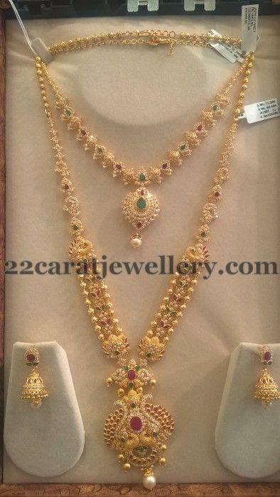 Jewellery Designs: Trendy CZ Sets by Sri Mahalaxmi Jewellers