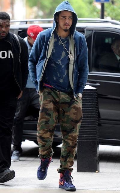 J Cole Jordans J. Cole Wearing Air Jo...
