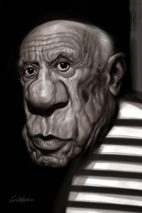 Caricature PicassoArt Face, Awesome Caricatures, Caricaturepicassojpg 490736, 3D Art, Caricatures Funny, Pablo Picasso, Celeb Caricatures, Caricatures Picasso, Celebrities Caricatures