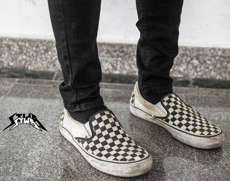 vans checkerboard black pewter