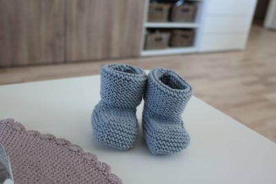 Babytøfler - oppskrift og fremgangsmåte (tonjebride)