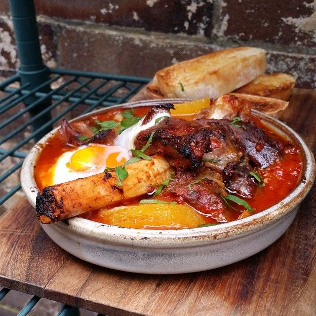 Lamb Shank-Shouka  #Lamb #Shank #Shakshouka w #Tomato #Potato #Egg & #Orange  #SummerHill  #Plunge46  #Breakfast  #Meze #Lunch #Cafe