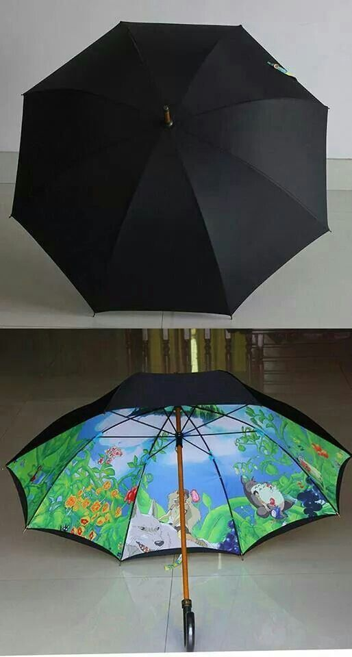 I feel this umbrella, like me, on the outside it's bleak, drab, simple, plain. But on the inside is bright, vivid, and awesome